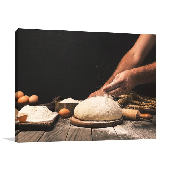 Bread Cooking Canvas Art