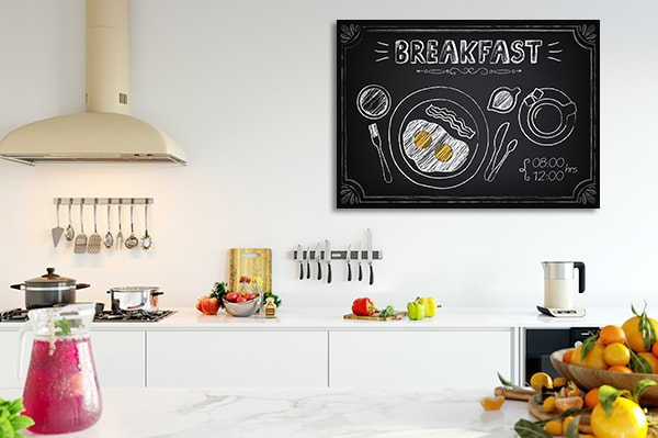 Breakfast on Board Prints Canvas