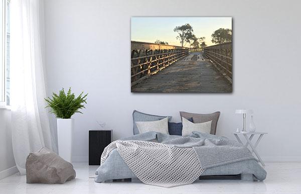 Bridge at Sunset Rockhampton Canvas Prints
