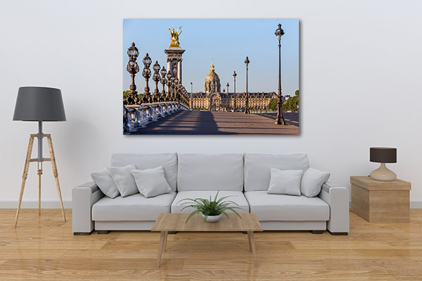 Bridge in Paris Print Artwork