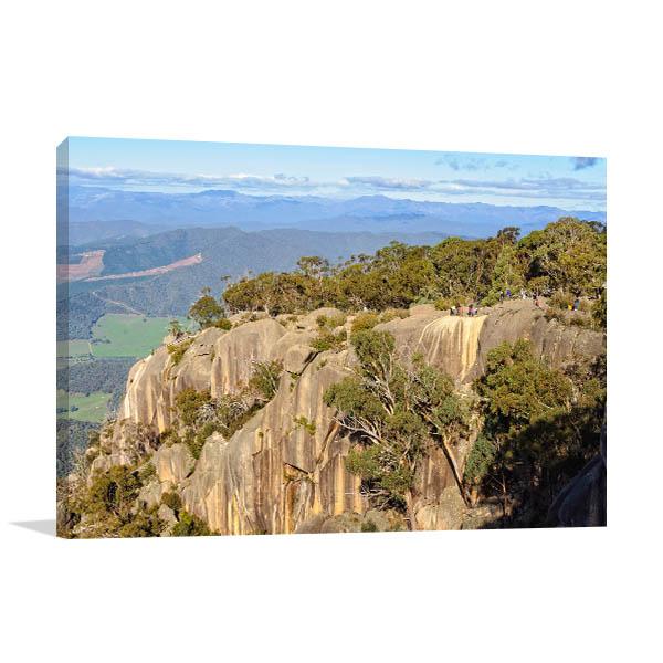 Bright Art Print Of Granite Cliffs Canvas Art