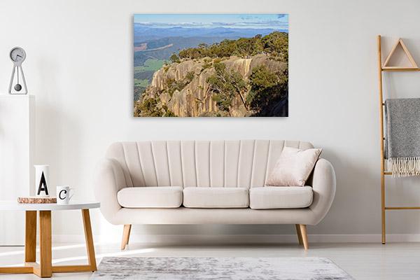 Bright Art Print Of Granite Cliffs Wall Art