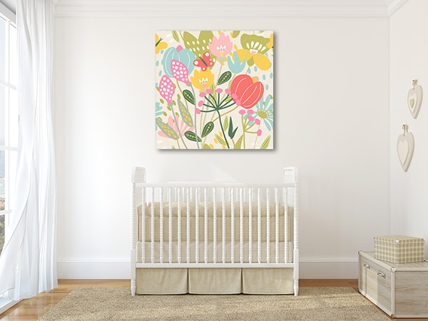Bright Floral Canvas Prints