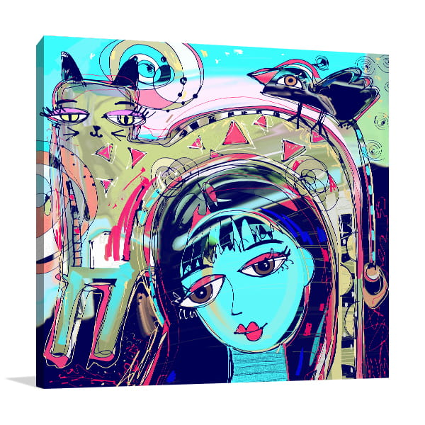 Bright Girl Canvas Art