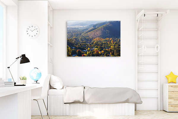 Bright Photo Art Print Of Rural Town Canvas Prints