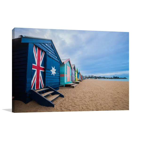 Brighton Beach Art Print Bathing Boxes Wall Art