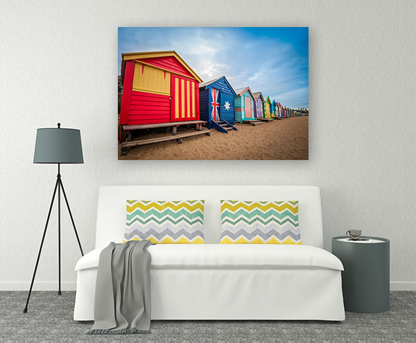 Brighton Beach Bathing Boxes in Melbourne Wall Art