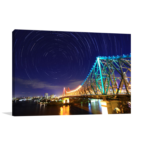 Brisbane Art Print Canvas Story Bridge Artwork