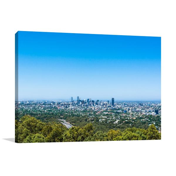 Brisbane Art Print Mt Coot-tha Lookout Photo Wall Arts