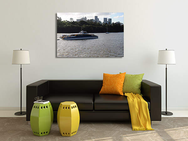 Brisbane Art Print River City Cat Ride Print Wall Art