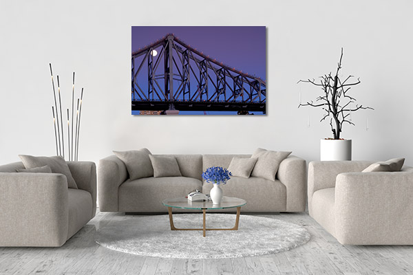 Brisbane Canvas Print Story Bridge Artwork