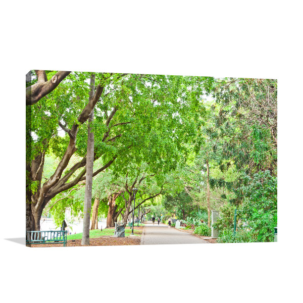 Brisbane CBD Art Print Botanic Garden Canvas Art