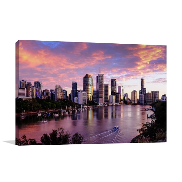 Brisbane City Canvas Art Print