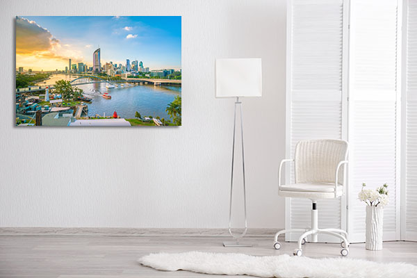 Brisbane River at Twilight Canvas Art