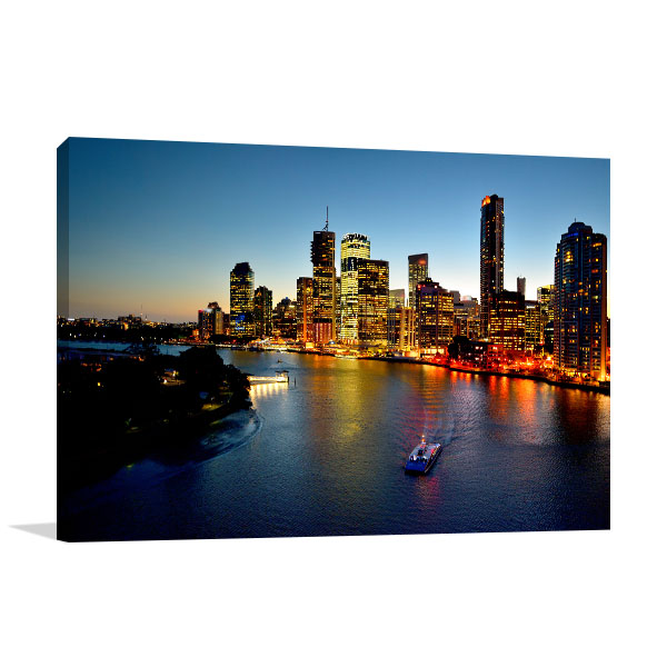 Brisbane Riverside Canvas Art Prints