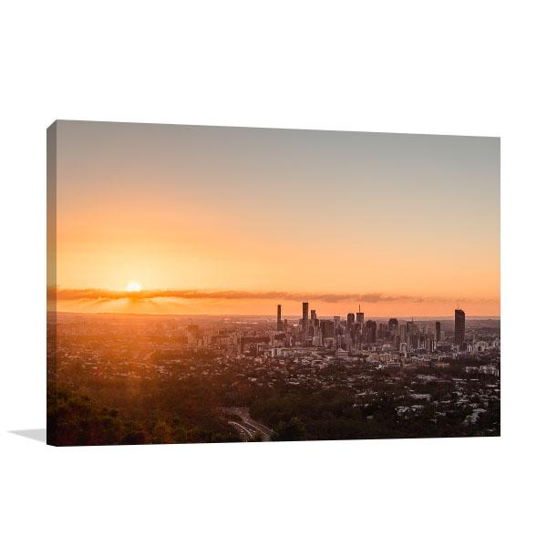 Brisbane Wall Print Mt-Coot-Tha Sunrise Print Art Canvas
