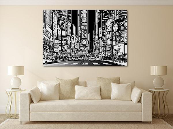 Broadway Street Vector Art Prints