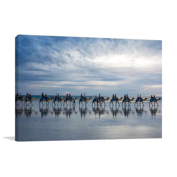 Broome Cable Beach Art Print Camels Caravan Print Photo Art