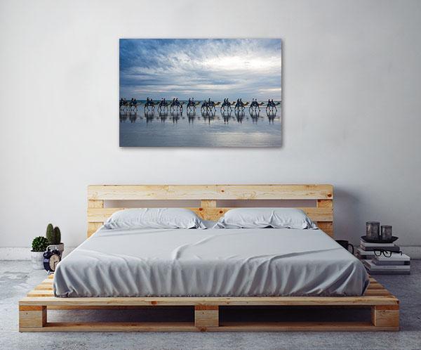 Broome Cable Beach Art Print Camels Caravan Canvas Photo Print