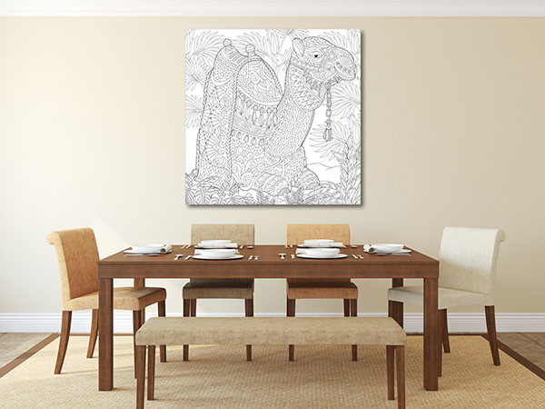 Camel Pattern Prints Canvas