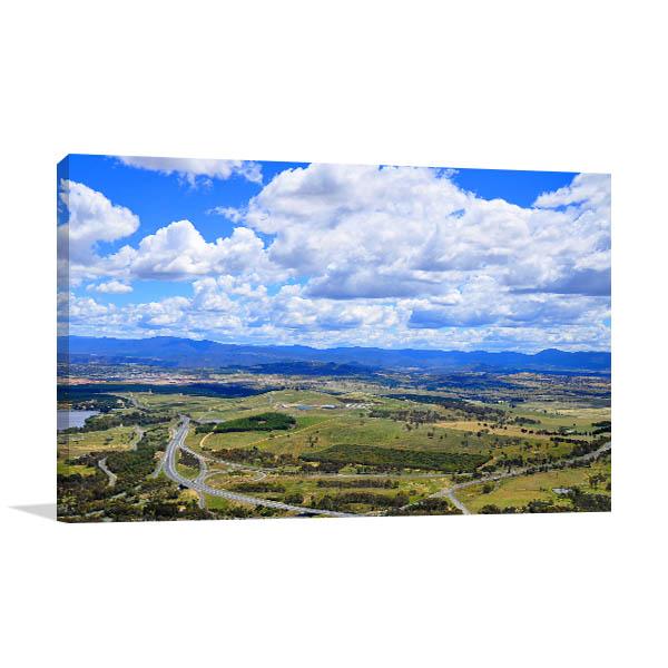 Canberra Sky View Canvas Art Prints