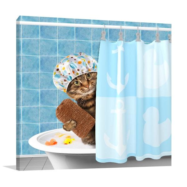 Cat Grooming Artwork