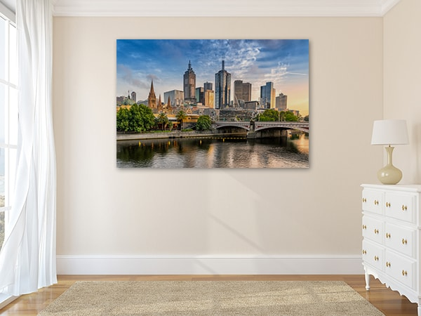 CBD Skyline Print Art Canvas on the Wall