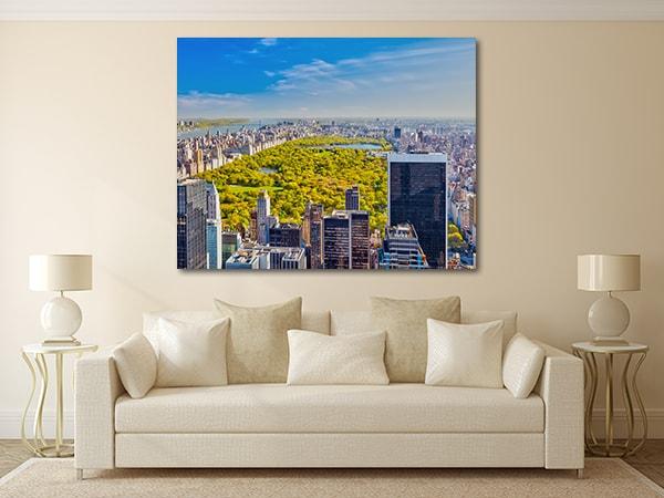 Central Park Skyline Canvas Prints