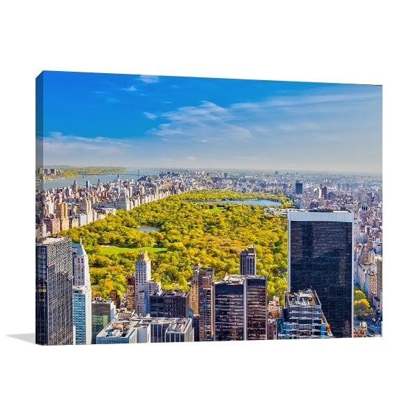 Central Park Skyline Canvas Art Prints