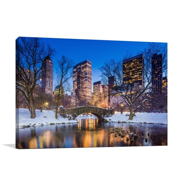 Central Park Winter Art Prints