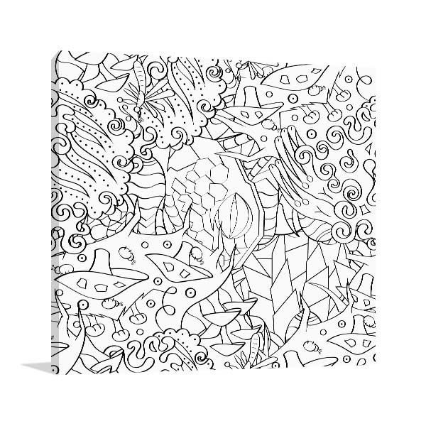 Chaotic Shapes Wall Art
