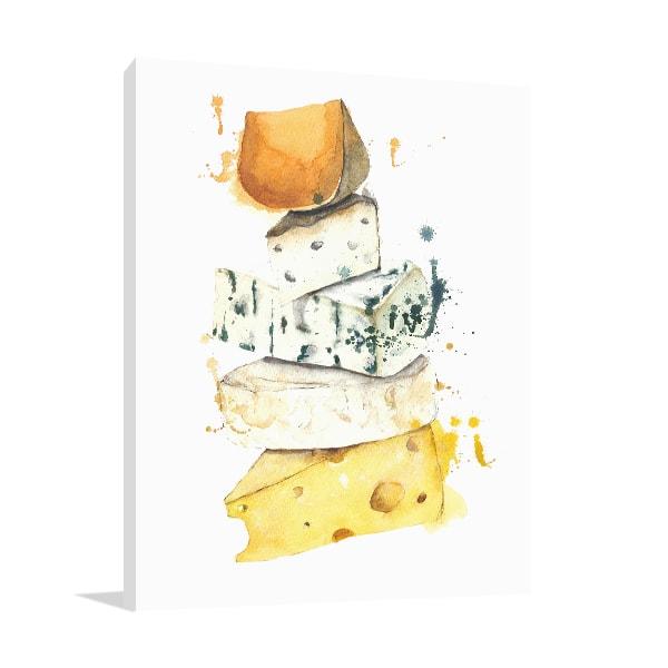 Cheese Stack Print Artwork