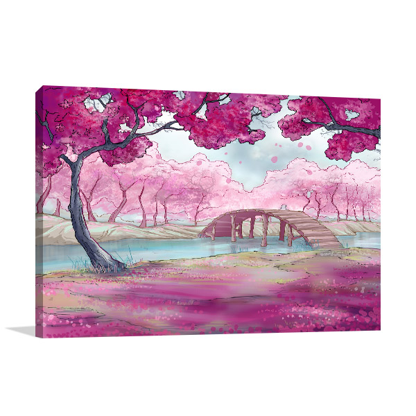 Cherry Blossoms In Spring Art Prints