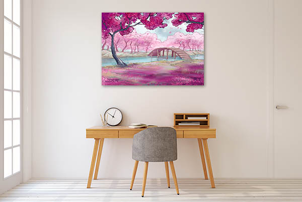 Cherry Blossoms In Spring Canvas Art Prints