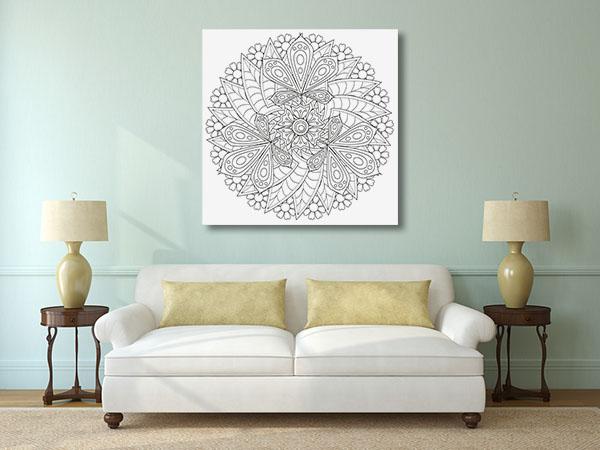 Circle Leaf Pattern Canvas Prints