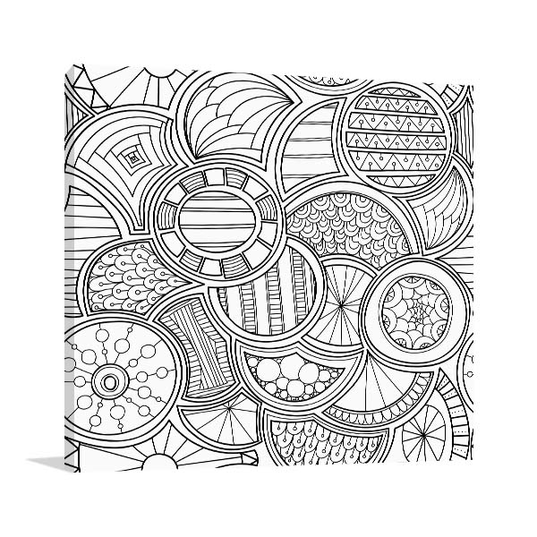 Citrus Pattern Canvas Art
