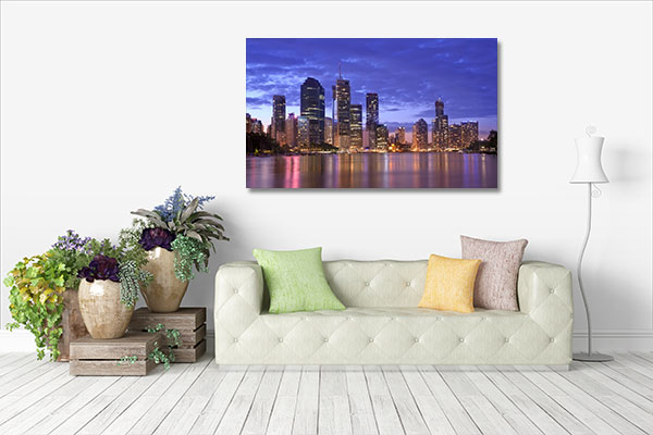 City Night Brisbane Art Prints