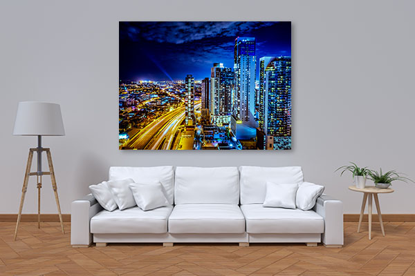 City of Melbourne at Night Prints Canvas