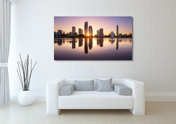 City Reflects Brisbane Canvas Prints