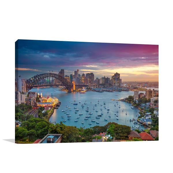 Cityscape Sydney Prints Canvas