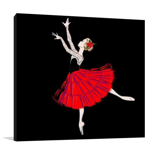 Classical Ballet Dancer Canvas Prints