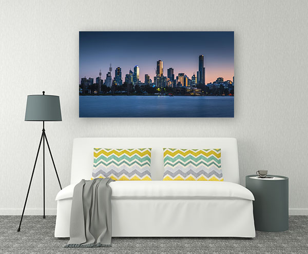 Clear Sky at Dawn in Melbourne Wall Art
