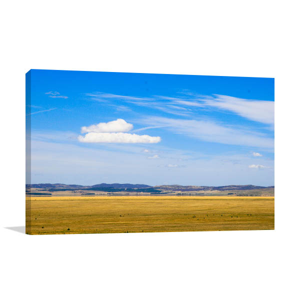 Cloud Over Field Canberra Canvas Art