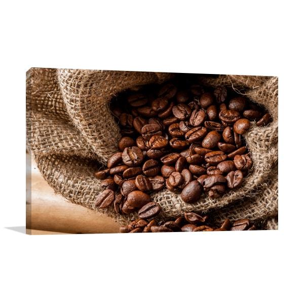 Coffee Bean Print Food Photography Art For Sale