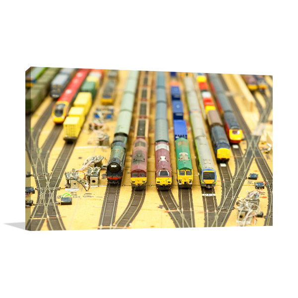 Collection Of Model Trains Artwork