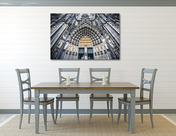 Cologne Cathedral Wall Art Print on the wall