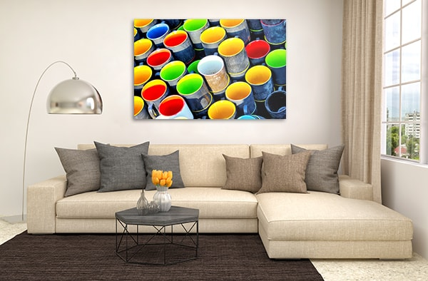 Colored Mugs Canvas Art Print Canvas Prints