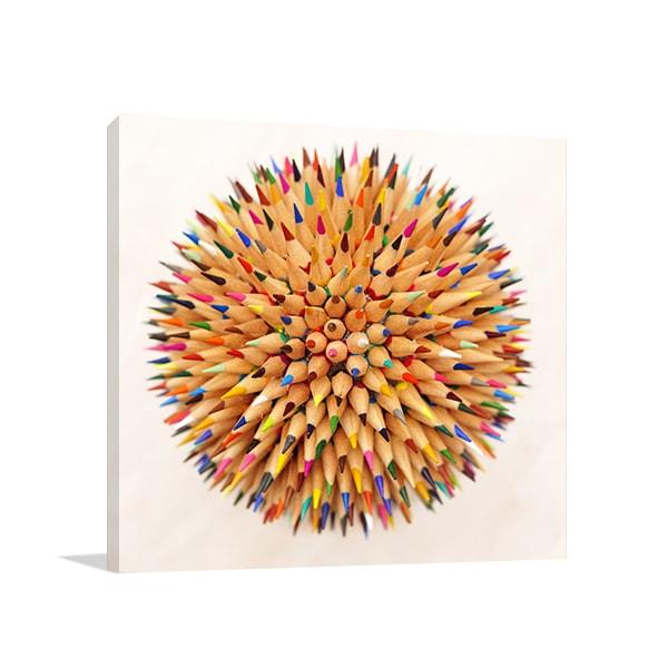 Colored Pencils Wall Art Print Artwork