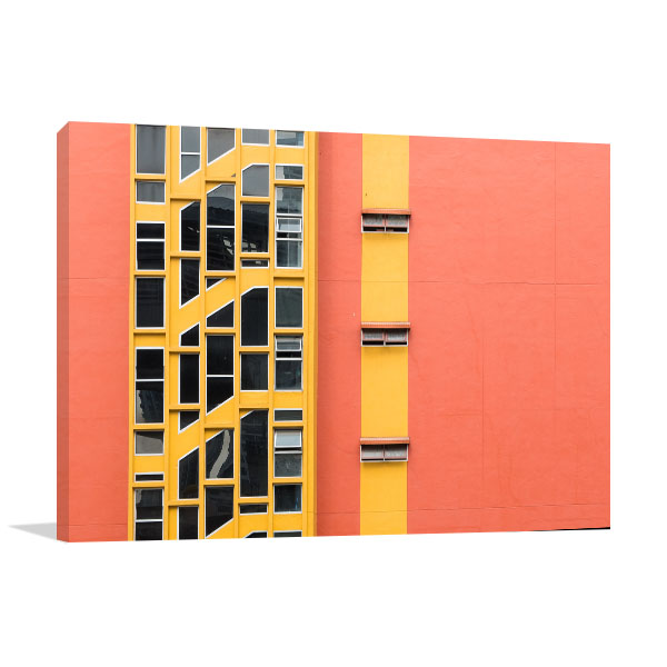 Colourful Building Windows Print Artwork