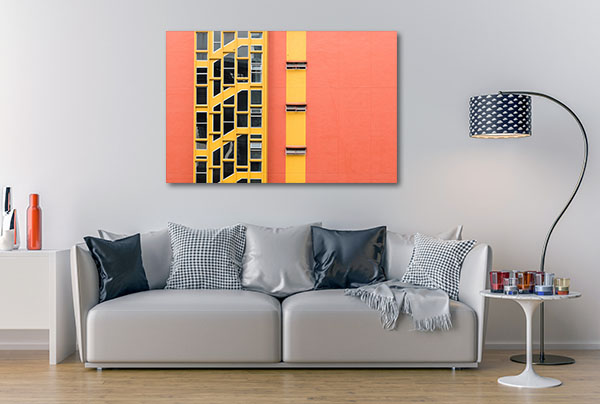 Colourful Building Windows Artwork